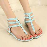 Candy Color Sandals with Cute Studs for Women kE1
