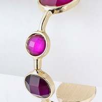Selena Round Jewel Purple Fashion Jewelry Bracelet