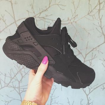 """NIKE"" AIR Huarache Running Sport Casual Shoes Sneakers Black F"