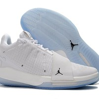 Jordan Chris Paul CP3 XI Basketball Shoe - White