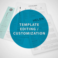 Resume Template - Editing / Customization by Resume Book