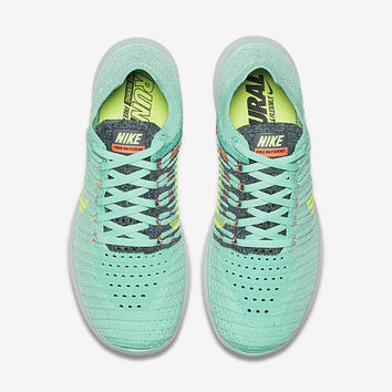 The Nike Free RN Flyknit Women's Running Shoe.