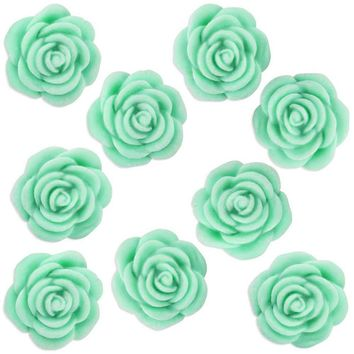 Mint Green Fondant Tea Roses