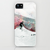 Vintage Skiing iPhone & iPod Case by Ppolecho