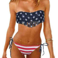 AMERICA THE BEAUTIFUL FRINGE BIKINI