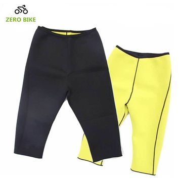 ZEROBIKE Men Slimming Pants Hot Thermo Neoprene Sweat Sauna Body Shapers Fitness Stretch Control Panties Burne Waist Slim Tights