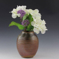 Woodfired pottery vase