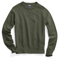 Slub Sweatshirt in Washed Olive