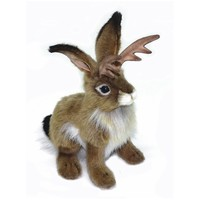 Handcrafted 9 Inch Lifelike Jackalope Stuffed Animal by Hansa
