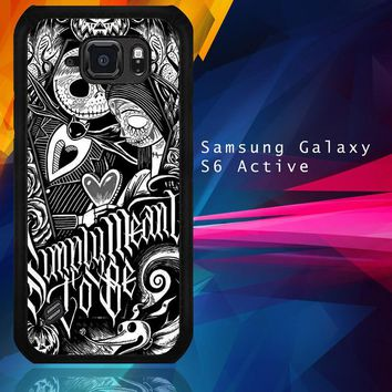 Jack And Sally Muertitos The Nightmare Before Christmas F0874 Samsung Galaxy S6 Active  Case