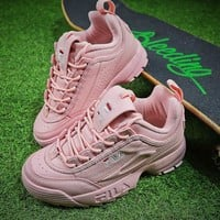FILA Disruptor II 2 All Pink Shoes FW0165-038 - Best Online Sale