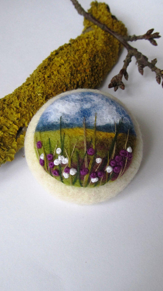 Needle Felted Brooch Ireland Felted From Feltaccessories
