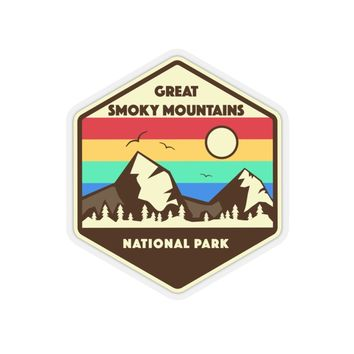 Great Smoky Mountains National Park Sticker, Smoky Mountains Sticker, National Park Sticker, National Park Gift