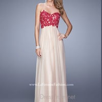 Strapless Sweetheart La Femme Formal Prom Gown 20617