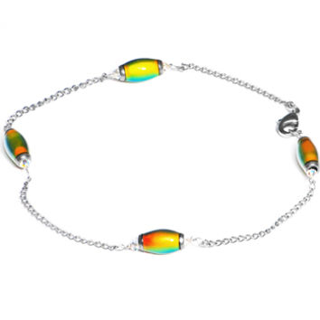 Handcrafted Mood Bead Anklet MADE WITH SWAROVSKI ELEMENTS | Body Candy Body Jewelry