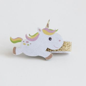 Boutique 12pcs Fashion Cute Unicorn Hairpins Kawaii Solid Felt Horse Animal Girls Hair Clips Hair Accessories Headware