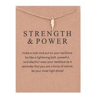 Lightning Card Alloy Clavicle Pendant Necklace  171208