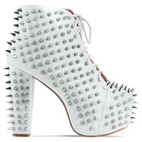 Jeffrey Campbell Lita Spike 2 in White Silver at Solestruck.com