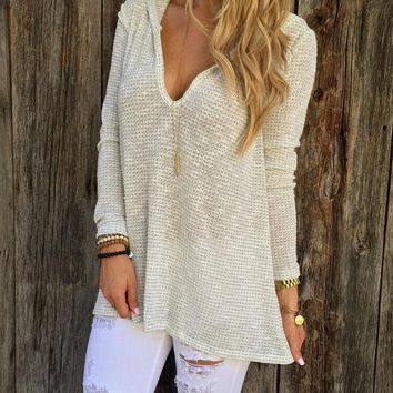 womens winter autumn knitted hoodie shirts girl warm sweater top gift 176  number 1
