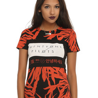 Twenty One Pilots Oversized Floral Girls T-Shirt