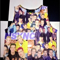 SWEET LORD O'MIGHTY! NSYNC CROP TANK