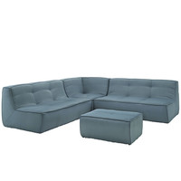 Align 4 Piece Upholstered Sectional Sofa Set Sea