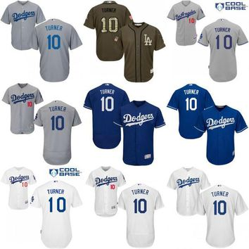Cheap #10 Justin Turner Jersey , Men's MLB Los Angeles Dodgers Justin Turner baseball jersey Fashion stitched size S-4XL