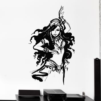 Wall Vinyl Decal Oriental Girl Dancing Belly Dance Home Interior Decor Unique Gift z4218
