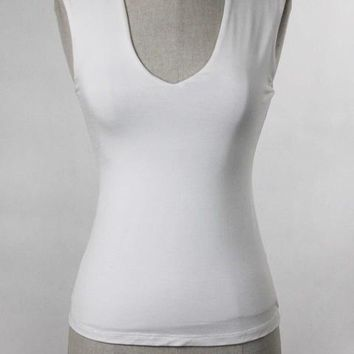 Vera White Double Layer Tank