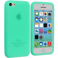 Mint Green Silicone Skin Case Cover for Apple iPhone 5C