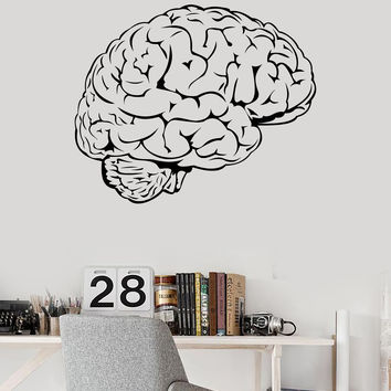 Vinyl Wall Decal Brain Mind Anatomy Intellect Science Medicine Doctor Stickers Unique Gift (1462ig)