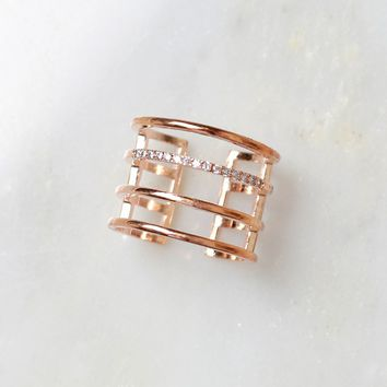 The Ring Leader Finger Cuff Rose Gold
