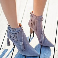 Jeffery Campbell + Free People Womens Alexander Heel Boot
