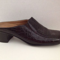 Aerosoles Shoes Womens Size 8 M Brown Heels Slides 8M EU 6 Pepperoni