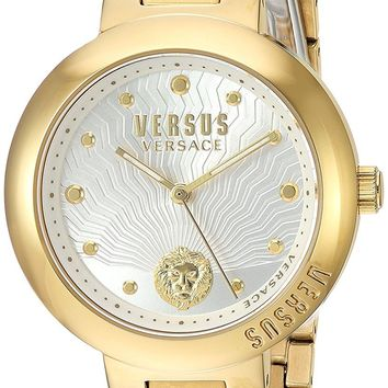 Versus by Versace Women's 'LANTAU ISLAND' Quartz Stainless Steel and Gold Plated Casual Watch(Model: VSP370517)