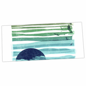 "Frederic Levy-Hadida ""Sea Scape"" Blue Stripes Desk Mat"