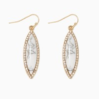 Marble Marquise Earrings | Fashion Jewelry | charming charlie
