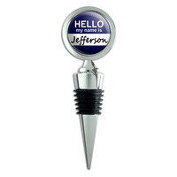 Jefferson Hello My Name Is Wine Bottle Stopper