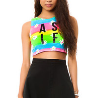 Dimepiece Designs Top As If Daisy Crop in Multi