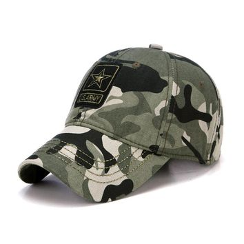 Fashion Pentagram Camo U.S. Army Outdoor Baseball Cap Casual Desert Jungle Cap Men Women Hats Casquette Hats Chapeu Touca Homme