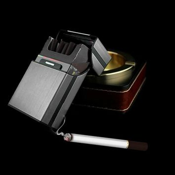 Aluminum Metal Cigar Cigarette Box Holder Protection Pocket Tobacco Storage hard Case 6 Colors