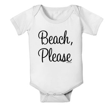 Beach Please Baby Romper Bodysuit