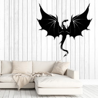 Wall Vinyl Decal Fantasy Chinese Dragon Living Room Decor Unique Gift z4659