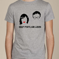 Keep Portland Weird Portlandia screen print tee t shirt