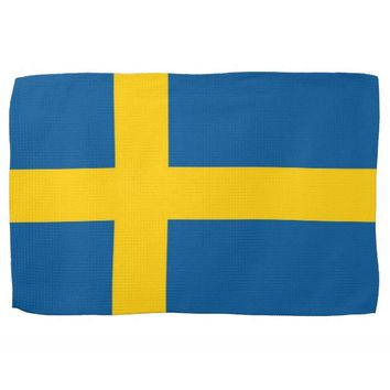 Kitchen towel with Flag of Sweden