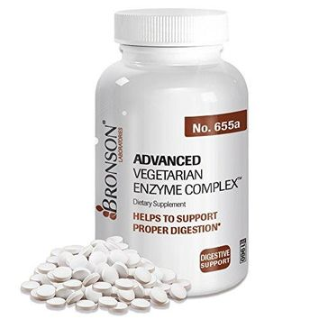 [Pack of 2] Bronson Advanced Vegetarian Enzyme Complex™, 120 Tablets Each