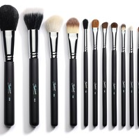 Sedona Lace 12 Piece Professional Makeup Brushes - Black