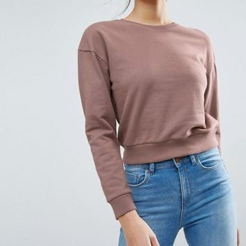 ASOS Oversized Cropped Sweatshirt at asos.com