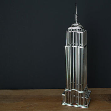 Empire State Building Sculpture, Modern Office Decor, Living Room Shelf Decoration, Industrial Office Decor