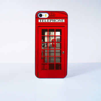Classic British Red Telephone Box Plastic Case Cover for Apple iPhone 5s 5 6 Plus 6 4 4s  5c
